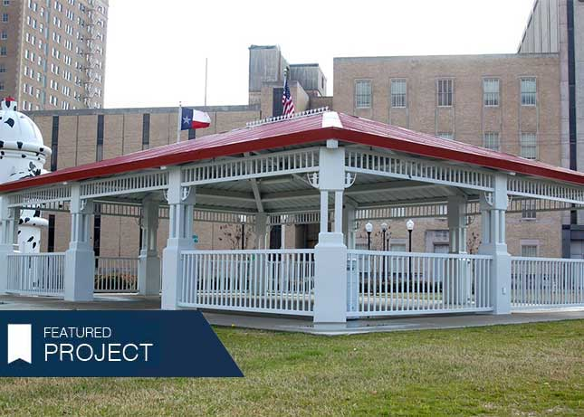 Beaumont Fire Museum shade pavilion installed by Kraftsman