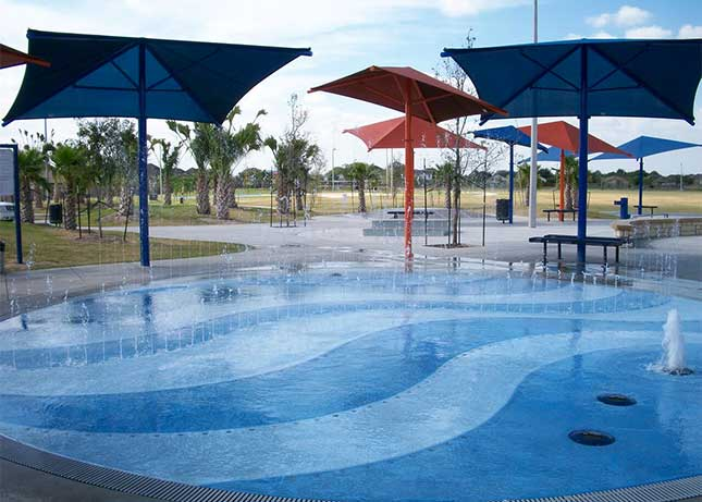 Shade Covers for a Splash Park Design Build by Kraftsman