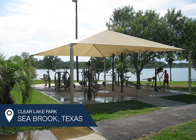 Outdoor Fitness Equipment in a park in Clearlake, TX by Kraftsman