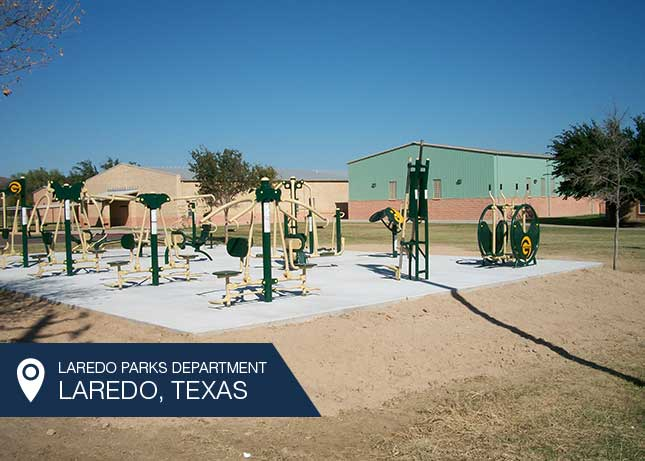Outdoor Fitness Gym for Laredo Parks Department by Kraftsman