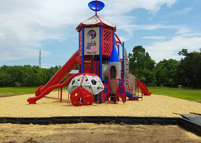 New Rocket or Space Shuttle Themed Playground Equipment Design Build by Kraftsman