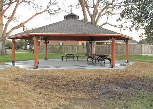 Park gazebo installed by Kraftsman