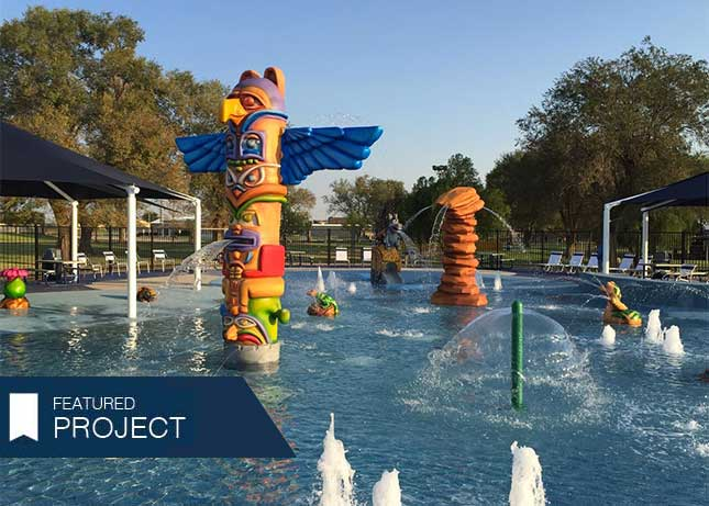 City of Seminole Doss Park Splash Park and pool equipment by Kraftsman
