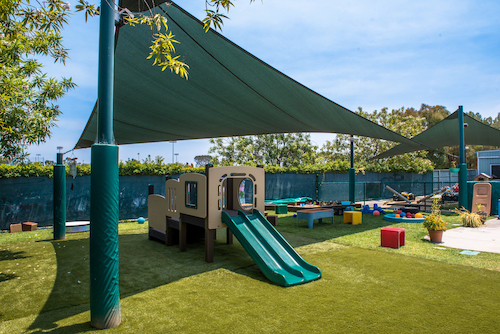 Covered daycare playground
