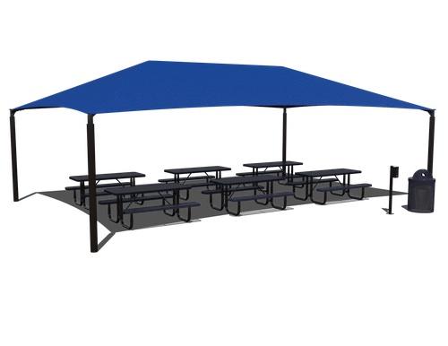 Shaded outdoor classroom